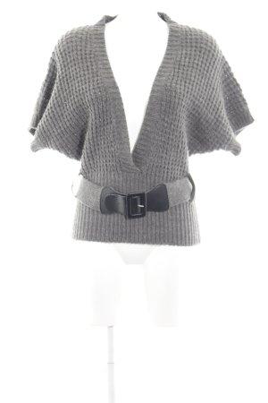 Only V-Ausschnitt-Pullover grau Casual-Look
