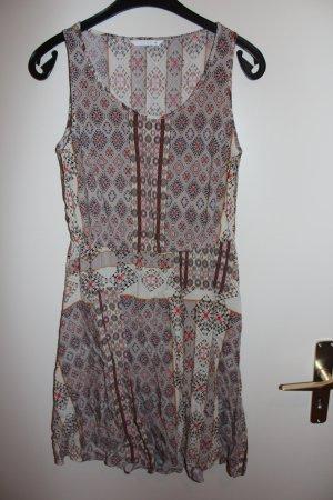 Only Viskose Kleid beige braun schwarz Gr. 36 Damen