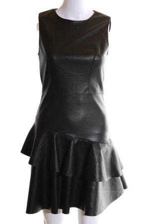 Only Vestido estilo flounce negro elegante