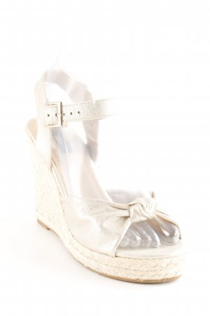Only Wedge Sandals gold-colored-cream glittery