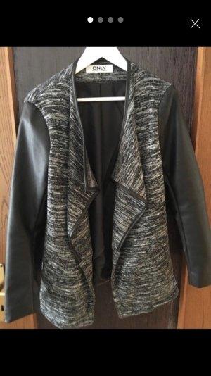 Only Leather Blazer black-grey