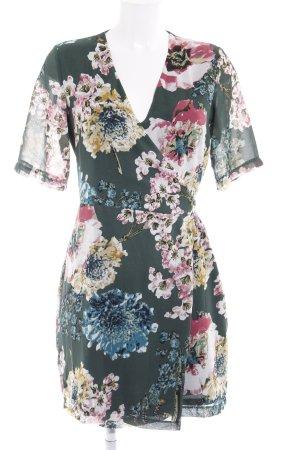 Only Vestido cruzado estampado floral elegante
