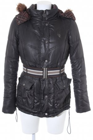 Only Winterjacke anthrazit Steppmuster Casual-Look