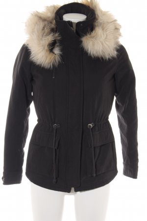 Only Winterjacke schwarz-creme Casual-Look