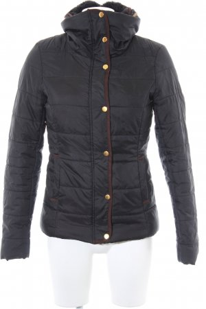 Only Winterjacke schwarz-dunkelbraun Casual-Look