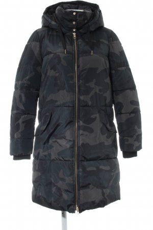 Only Wintermantel schwarz Camouflagemuster Casual-Look
