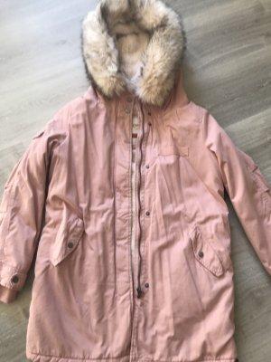 Only Abrigo con capucha rosa