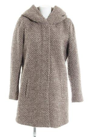 Only Cappotto invernale marrone-grigio-beige puntinato stile casual