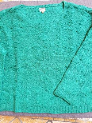Only Jersey de cuello redondo verde