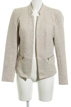 Only Blazer in lana beige-beige chiaro puntinato stile casual
