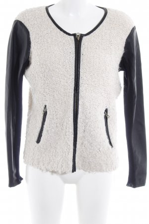 Only Wolljacke schwarz-creme Casual-Look
