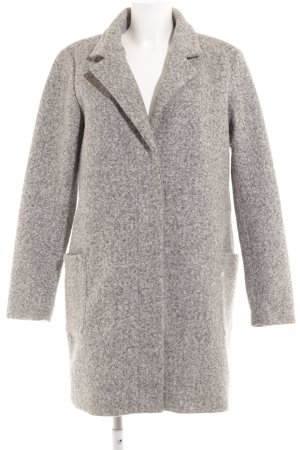 Only Wool Coat light grey-grey flecked casual look