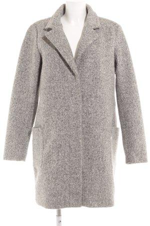 Only Cappotto in lana grigio chiaro-grigio puntinato stile casual