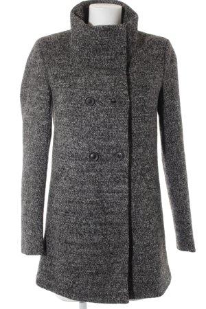 Only Cappotto in lana nero-grigio stile casual