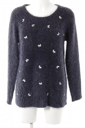 Only Wool Sweater white-dark blue casual look
