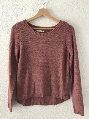Only XS Rundhals Pullover, rose