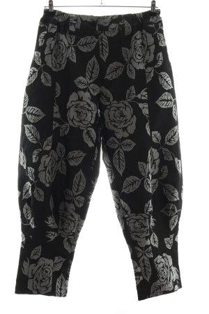 Ono Koon Pantalone Marlene nero-grigio chiaro stampa integrale stile casual