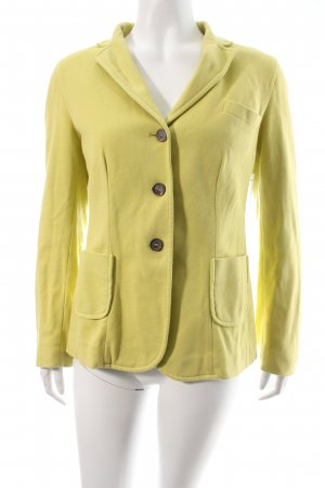 .Onorati Jersey Blazer amarillo limón estilo clásico