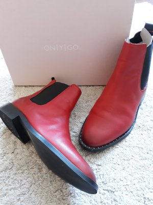 Onygo Chelsea Boots dark red-black leather