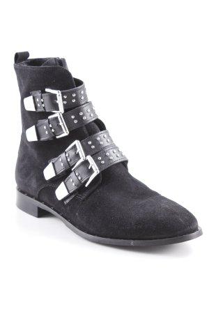 Onygo Kurzstiefel schwarz-silberfarben Street-Fashion-Look