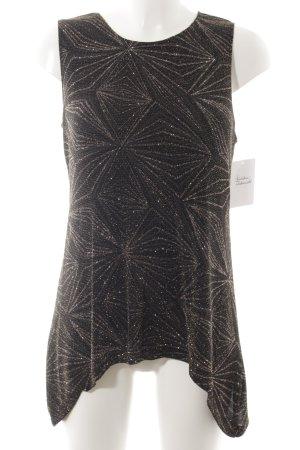 Onyx ärmellose Bluse schwarz-bronzefarben Casual-Look