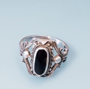 Onyx Ring Silber 925 Silberring Sterling