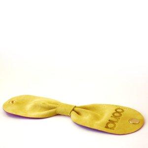 OONA Wrist Bow Tie Nubuk Sierra Gelb Armband Lederarmband Gelb Leder