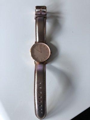 Oozoo Reloj con pulsera de cuero rosa