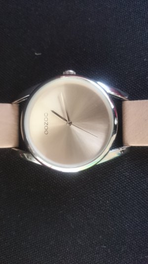 Oozoo Watch With Leather Strap oatmeal leather