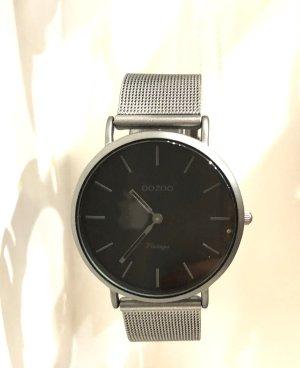 Oozoo Metallarmbanduhr Silber grau schwarz Mit Garantie