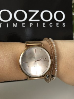 Oozoo Watch With Metal Strap rose-gold-coloured