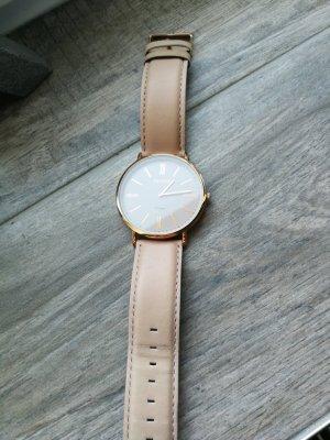 Oozoo Montre avec bracelet en cuir or rose