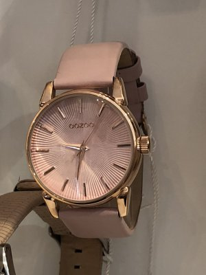 Oozoo Uhr echt Leder rosegold rosa