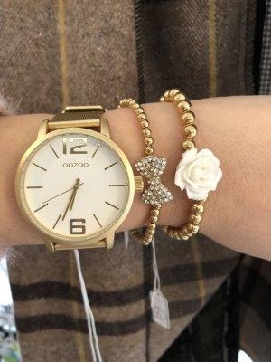 Oozoo Uhr gold Metall Armbanduhr Neu