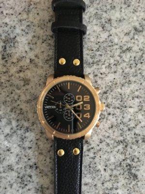 OOZOO Uhr in schwarz mit goldfarbenenr Hardware