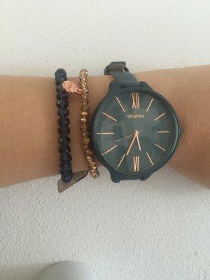 Oozoo Uhr mit Leder Armband echt Leder neu