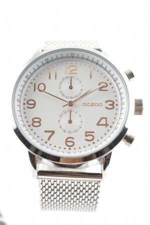 Oozoo Watch With Metal Strap silver-colored-rose-gold-coloured business style