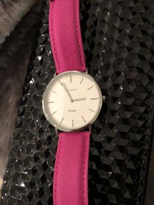 Oozoo Uhr pink Echt Leder neu mit Garantie Damen Armband Uhr