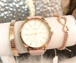 Oozoo Uhr rosa rosegold Neu mit Garantie echt Leder