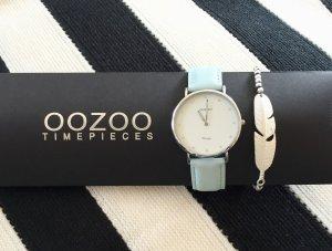 Oozoo Uhr rosegold echt Leder, Neu mit Garantie Damen Armbanduhr mint