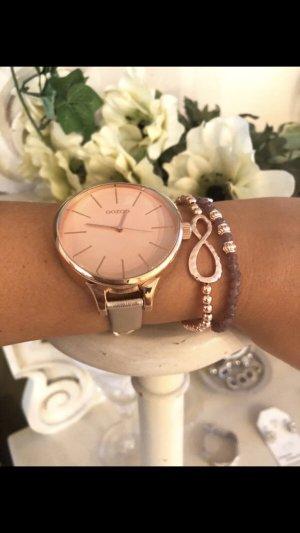 Oozoo Uhr rosegold Neu mit Garantie 1 Jahr echt Leder
