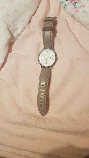oozoo Uhr Silber grau vintage