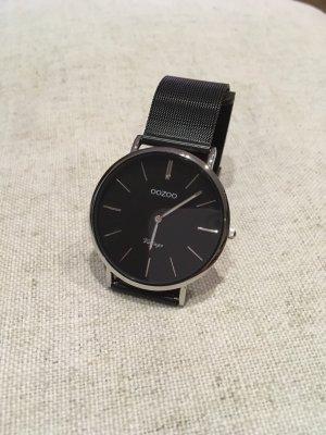 Oozoo Montre avec bracelet métallique noir-argenté