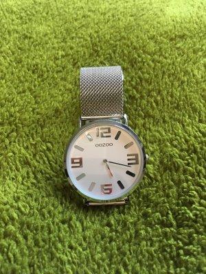 Oozoo Horloge met metalen riempje zilver-wit