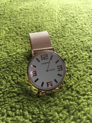 Oozoo Horloge met metalen riempje wit-roségoud