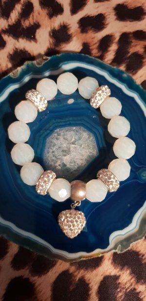 Opal Glas Perlenarmband