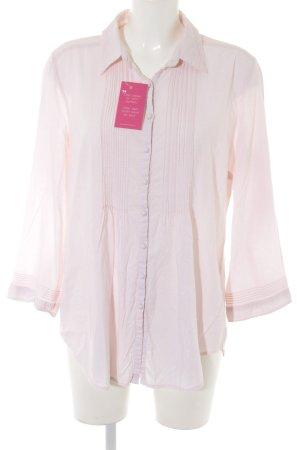 Open End Langarm-Bluse rosé Business-Look