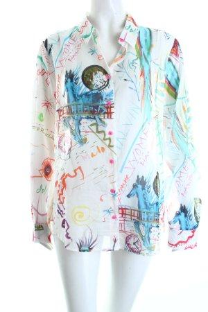Open End Langarmhemd abstraktes Muster extravaganter Stil