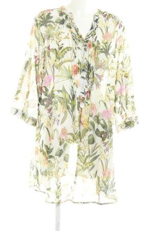 Open End Blusa larga estampado floral look casual