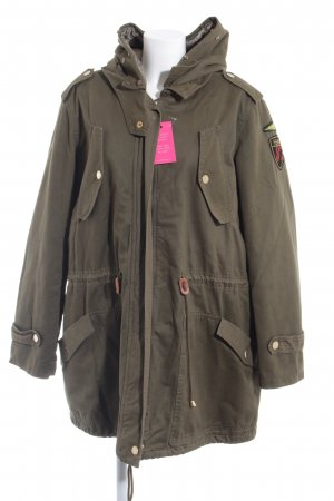 Open End Parka verde oscuro look «Brit»
